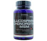 Хондропротектор для суставов и связок Glucosamine Chondroitin MSM 90 таблеток Ultimate Nutrition (00365-01)
