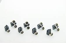 Ролики для душевых кабин, комплект ( В-43 А+С ) Верхние двойные, нижние одинарные серые., фото 2