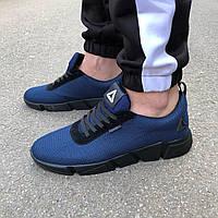 Синие мужские кроссовки в стиле Reebok, фото 1