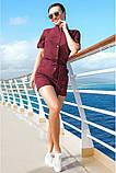 Модный Льняной женский комбинезон с шортами 42-60р, фото 2