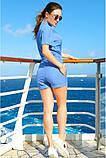 Модный Льняной женский комбинезон с шортами 42-60р, фото 3