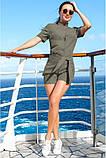 Модный Льняной женский комбинезон с шортами 42-60р, фото 4