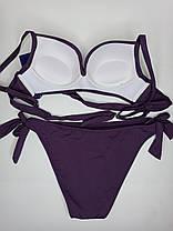 Раздельный купальник большой пушап Z.Five 35807 фиолетовый на 44  48  размер, фото 2