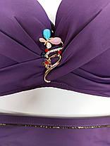 Раздельный купальник большой пушап Z.Five 35807 фиолетовый на 44  48  размер, фото 3