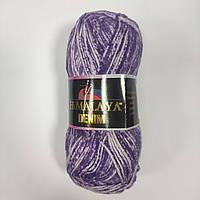 Хлопковая пряжа Denim Himalaya Деним, разные цвета, фиолетовый