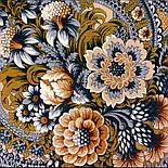 Бархатная ночь 538-18, павлопосадский платок шерстяной  с шерстяной бахромой, фото 2