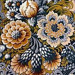Бархатная ночь 538-18, павлопосадский платок шерстяной  с шерстяной бахромой, фото 4