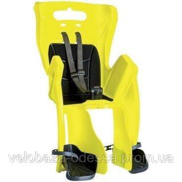 Сиденье задн. Bellelli Little Duck Relax до 22кг, неоново-желтое с черной подкладкой (Hi Vision)