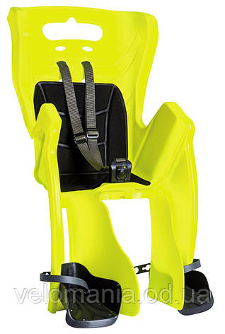 Сиденье задн. Bellelli Little Duck Standard Multifix неоново-желтое с черной подкладкой (Hi Vision), фото 2