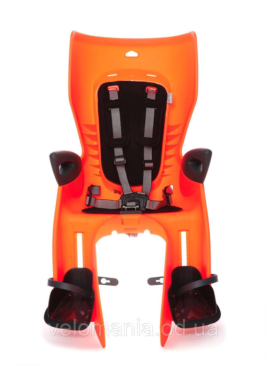 Сиденье задн. Bellelli Summer Сlamp (на багажник) до 22кг, оранжевое с черной подкладкой