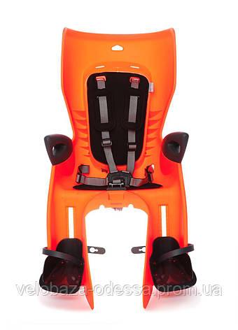 Сиденье задн. Bellelli Summer Сlamp (на багажник) до 22кг, оранжевое с черной подкладкой, фото 2