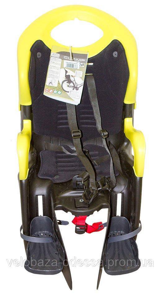 Сиденье задн. Bellelli Tiger Clamp черно-салатовый/черная подкладка (HI Vision)