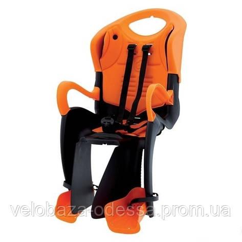 Сиденье задн. Bellelli Tiger Relax B-fix до 22кг, чёрно-оранжевое с оранжевой подкладкой, фото 2