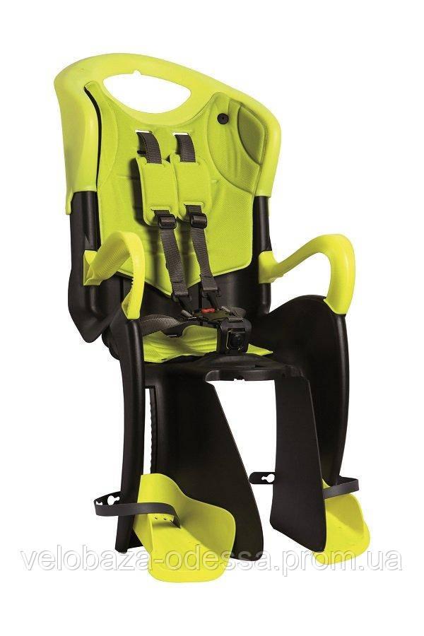 Сиденье задн. Bellelli Tiger Сlamp (на багажник) черно-салатовое с салатовой подкладка (HI Vision)
