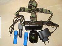 Ліхтарик  BAILONG BL-6968 налобний синій для рибалки