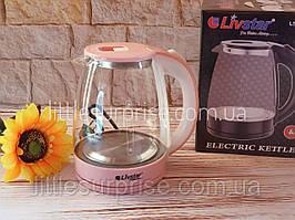 Электрочайник стеклянный Livstar LSU-1122 Розовый