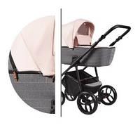 Детская универсальная коляска 2в1 Baby-Merc La Noche (LN/01B) Серо-розовая