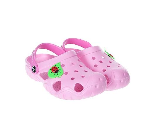 Кроксы  для девочки, розовые - Jose Amorales,размер 32-33