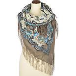 В вихре танца 1567-16, павлопосадский платок шерстяной  с шелковой бахромой, фото 3