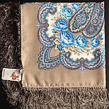 В вихре танца 1567-16, павлопосадский платок шерстяной  с шелковой бахромой, фото 6