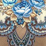 В вихре танца 1567-16, павлопосадский платок шерстяной  с шелковой бахромой, фото 7