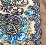 В вихре танца 1567-16, павлопосадский платок шерстяной  с шелковой бахромой, фото 4