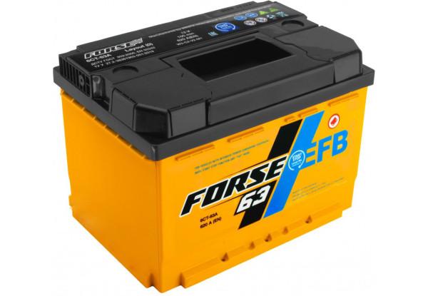 FORSE EFB 6CT 63 Ah  Аз Автомобильный аккумулятор