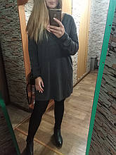 Сукня вільного крою светр сірий
