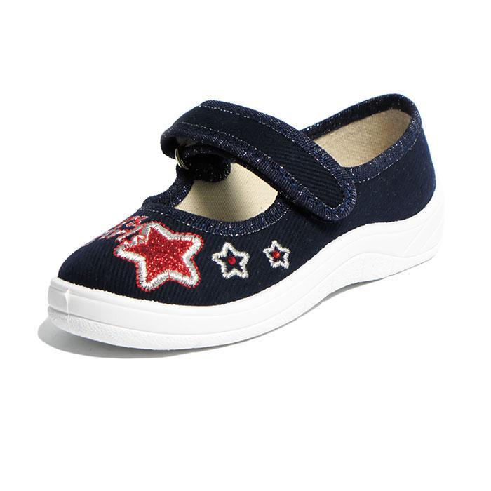 Текстильные тапочки WALDI Алина звезда красная.Размеры 24,25