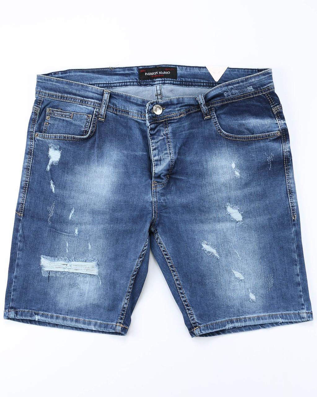Шорты джинс MARIO рваные 31(Р) 0015
