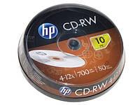 """CD-RW """"HP"""" 12x 700mb штир(10)"""