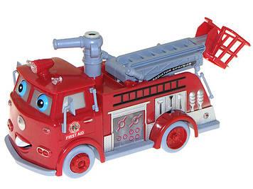 Машина на бат-ці,муз.,світ. Тачки: Пожежна,пускає бульбашки,23х12см №B838B(12)(24) KI
