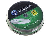 "DVD+RW ""HP"" 4х 4.7Gb/120min штир(10)"