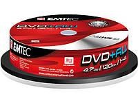 """DVD-RW """"Emtec"""" 4х 4.7Gb/120min штир(10)"""