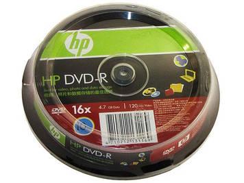 DVD-R 16х 4.7 Gb/120min HP штир(10)