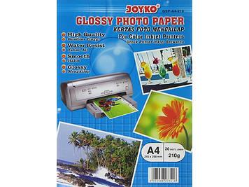 """Фотопапір """"Joyko"""" А4 210г/м2 глянц. 210х298мм GSP-A4-10/GSP-A4-210(20)(1000)"""