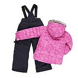 Зимний костюм для девочки PELUCHE & TARTINE F19M50EF RoyalBerry/DeepGray. Размеры 3 - 8 лет., фото 2