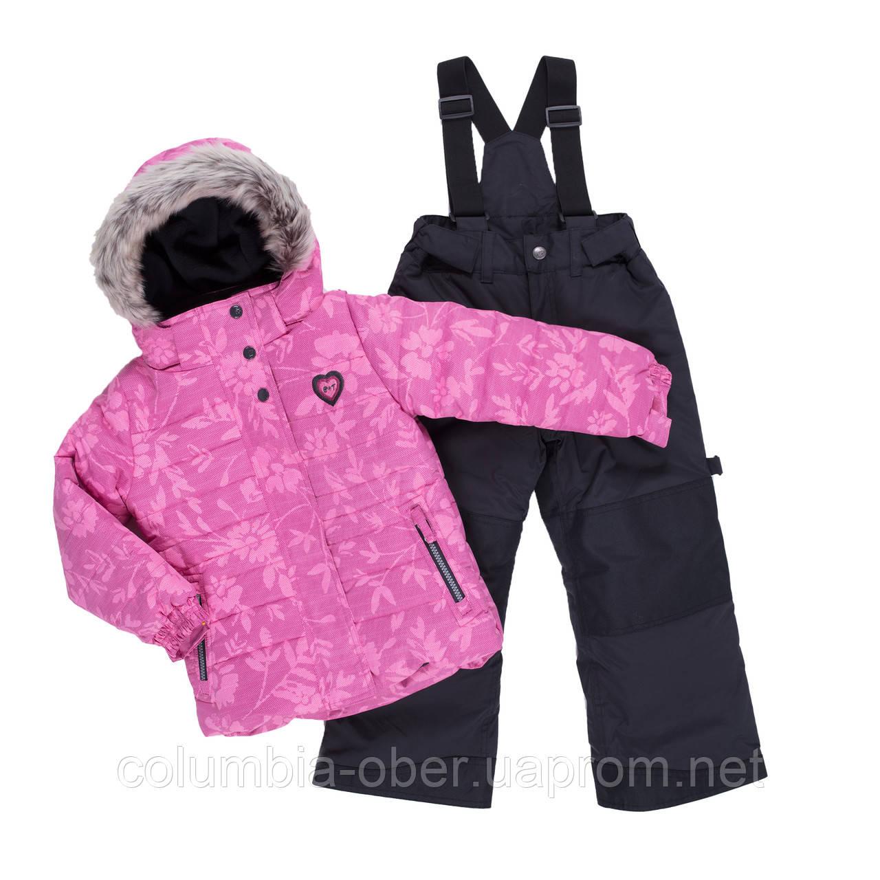 Зимний костюм для девочки PELUCHE & TARTINE F19M50EF RoyalBerry/DeepGray. Размеры 3 - 8 лет.