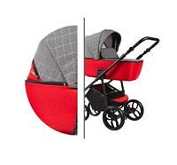Детская универсальная коляска 2в1 Baby-Merc La Noche (LN/02B) Серо-красная