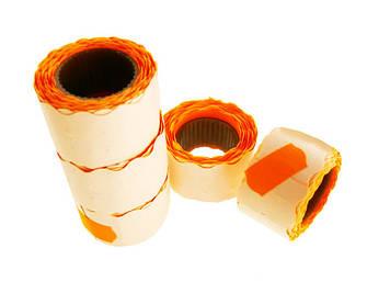 Цінник клейкий в рул. мал. 3м 12х25мм 275шт помаранчевий(5)(325)