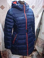 Удлиненный пуховик snowimage b314 синий