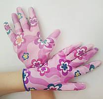 Перчатки садовые хозяйственные с силиконовым покрытием, размер 8-9