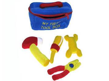Набір інструментів м'яких: 4 інструменти,з пискавкою,брязк.,у сумці,19х10х19см №ТЕ7539(84)