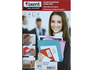 "Етикетки самокл. ""Axent"" 65шт 38,1х21,2 закр. кінчики №2470(100)"