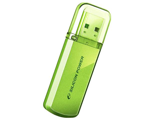 """Флеш-пам'ять 16GB Silicon Power helios"""" 101 USB2.0 green"""