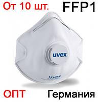 Защитная маска респиратор Uvex 2110 FFP1 с клапаном (фиксатор для переносицы захисна маска респіратор), фото 1