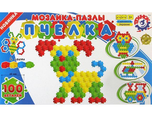 """Мозаїка-пазли """"Технокомп"""" Бджілка,100дет. №1035(4)"""