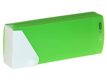 "Пенал ""Economix"" пластик. на кнопці салатовий №E31617-13(1)(20)"