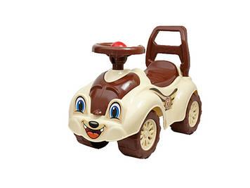 "Машина каталка - толокар ""ТехноК"" №2315 кремово-коричнева(3)"