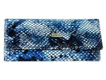 """Ключниця """"Karya"""" жін. №399-042 синя,рептилія,шкіра"""